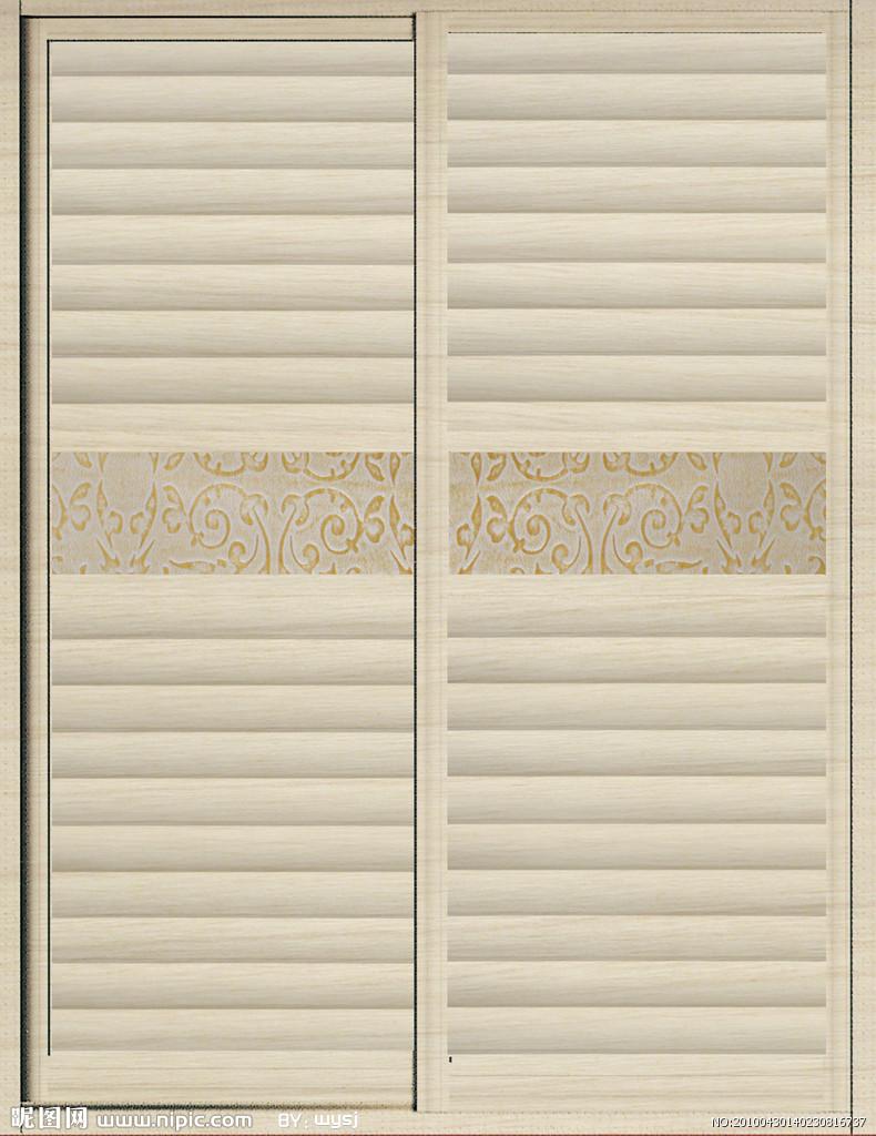 欧式浮雕柜门贴图